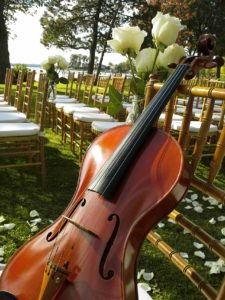 Wedding ceremony violinist.