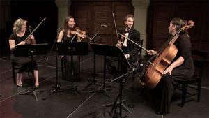 A wedding string quartet.